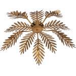 Plafon vintage złoty 5-źródeł światła - Botanica