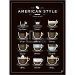 Czarne Plakaty z motywem kawy marki Follygraph