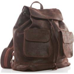 Plecak vintage skórzany damski brązowy BV20