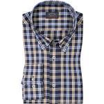 Niebieskie Koszule męskie z kolekcji plus size z amerykańskim kołnierzykiem marki PAUL & SHARK w rozmiarze dużym