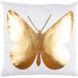 Poduszka Gold De Lux Motyl, 43 x 43 cm