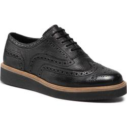 Półbuty CLARKS - Baille Brogue 261574144 Black Leather