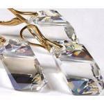 Promocja Kryształy Komplet Złote Srebro Moonlight