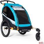 Przyczepka rowerowa dla dziecka Burley D'lite X Single Aqua
