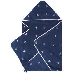 Ręcznik dla niemowląt z kapturem MARINE KIDS 80x80 cm Ciemnoniebieski