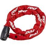 Red Cycling Products High Secure Chain Łańcuch rowerowy z zamkiem 6mm x 1000mm, czerwony 2021 Łańcuchy