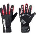Czarne Wiatroszczelne Rękawiczki na rower damskie marki Red Cycling Products
