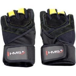 Rękawice fitness HMS RST01 (rozmiar S) Czarno-żółty