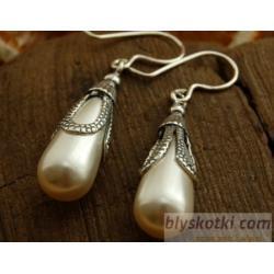 RZYMSKIE SOPLE - kolczyki z perłami