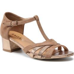 Sandały SAGAN - 4548 Korg Welur Platyna
