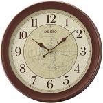Seiko Zegar ścienny brązowy tworzywo sztuczne QXA709B
