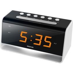 Sencor SDC 4400 W Zegar z budzikiem LED, czarny