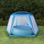shumee Namiot do basenów, tkanina, 590x520x250, niebieski