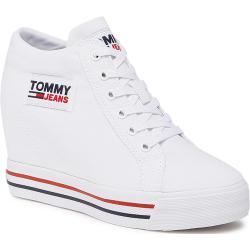 Sneakersy TOMMY JEANS - Wedgr Sneaker EN0EN01346 White YBR