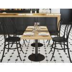 Stolik dębowy do kawiarni kwadratowy 60x75x60