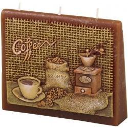 Świeczka zapachowa Kawa koperta, 13 x 11 x 4 cm