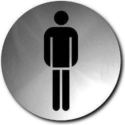 Szyld WC męskie okrągły Signo