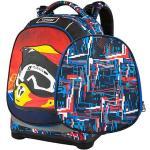 Target Docelowy plecak szkolny, Kask motocyklowy, czerwono-niebieskie wzory