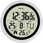 Technoline WT3005 cyfrowy zegar ścienny, tworzywo sztuczne, srebrny, Ø 147 x 79 mm