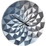TFA Dostmann Zegar ścienny analogowy Diamond, 60.3063.06, z wysokiej jakości mechanizmem zegarowym, poligonal, długi czas pracy baterii, niebieski metaliczny, (dł.) 396 x (szer.) 44 x (wys.) 396 mm