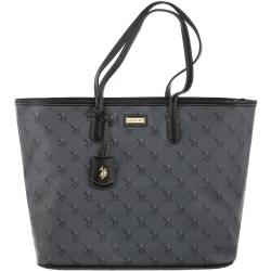 Torba U.S. Polo Assn. Hampton L Shopping Bag Printed Pu Black BIUHD4881WVG005 (US47-a)