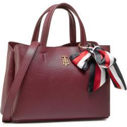 Torebka TOMMY HILFIGER - Charming Tommy Med Satchel AW0AW08792 PUR