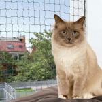 Trixie wzmocniona siatka ochronna dla kota, oliwkowa - 4 x 3 m