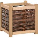 vidaXL Podwyższona donica ogrodowa, 40x40x40 cm, drewno sosnowe