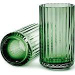 Wazon Lyngby 12 cm copenhagen green szklany