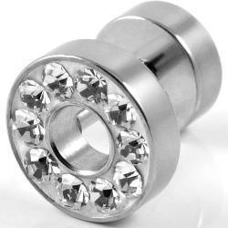 Wkręt 8 mm w kształcie koła z kryształami