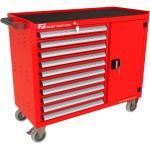 Wózek warsztatowy TRUCK z 10 szufladami i drzwiami PT-210-40