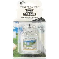 Yankee Candle Clean Cotton Car Jar Ultimate świeca zapachowa 1 Stk