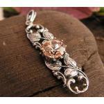 Zafira - srebrny wisiorek z topazem złocistym