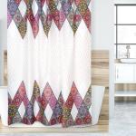 Zasłona prysznicowa Mandala różowy, 180 x 200 cm