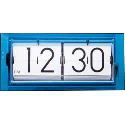 Zegar klapkowy / stołowy Big Flip Clear Nextime niebieski (5209 BL)