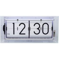Zegar klapkowy / stołowy Big Flip Clear Nextime transparentny (5209 TR)