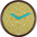 Zegar na ścianę Calmer Nextime brązowy, zielony (3204)