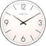 Zegar ścienny Basic Dome Nextime 35 cm, biały (3157 WI)