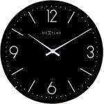 Zegar ścienny Basic Dome Nextime 35 cm, czarny (3157 ZW)
