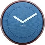 Zegar ścienny Calmest Index Nextime niebieski (3201)