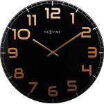 Zegar ścienny Classy Nextime 50 cm, czarny / miedziany (3105 BC)