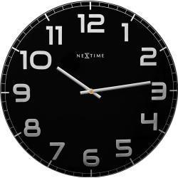 Zegar ścienny Classy okrągły Nextime 50 cm, czarny (3105 ZW)