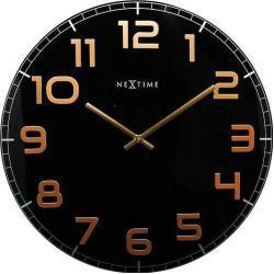 Zegar ścienny Classy Round czarno-miedziany