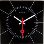 Zegar ścienny Nextime Stazione 35 x 35 cm, czarny (8636 ZW)