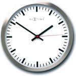 Zegar ścienny Stripe Nextime 25 cm, biały (2520)