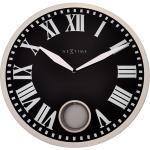 Zegar ścienny z wahadłem Romana Nextime 43 cm, czarny (8161)