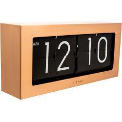 Zegar stołowy Big Flip Nextime miedziany (5198 CO)