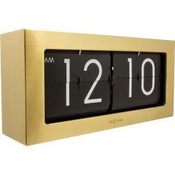 Zegar stołowy Big Flip Nextime złoty (5198 GO)