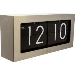 Zegar stołowy Big Flip srebrny