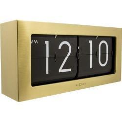 Zegar stołowy Big Flip złoty